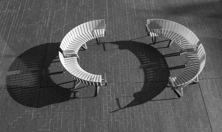 Long shadows at the Barbican